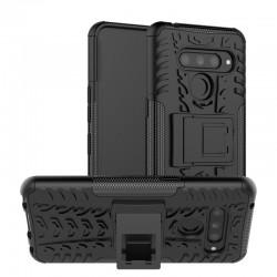 LG K50 / Q60 etui na telefon Pancerne Armor - CZARNE