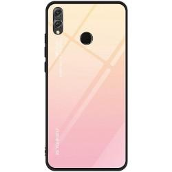 Etui na telefon Huawei P Smart Z , GRADIENT szklane różowe