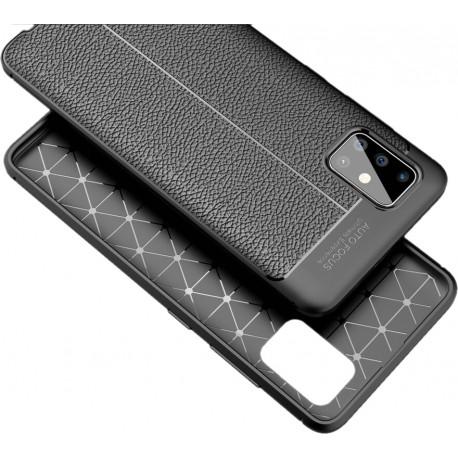 Etui na telefon KARBON SKÓRA Case Czarne do Samsung Galaxy A71