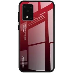 Etui na telefon GRADIENT szklane czerwone do Samsung Galaxy S20 Ultra