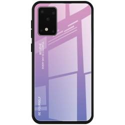Etui na telefon GRADIENT szklane fioletowe do Samsung Galaxy S20 Ultra