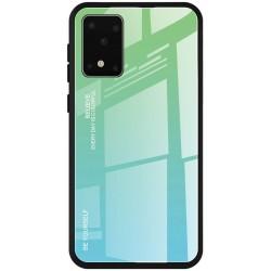 Etui na telefon GRADIENT szklane zielone do Samsung Galaxy S20 Ultra