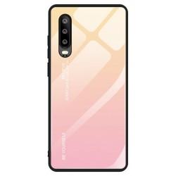Etui na telefon GRADIENT szklane żółte do Huawei P Smart Pro