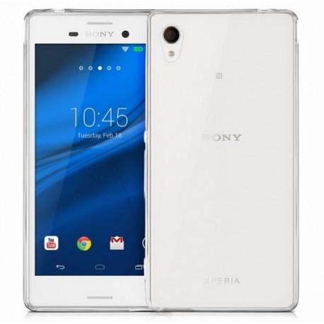 Sony Xperia M4 Aqua Etui Silikonowe 0,3mm + Szkło Hartowane 9H 2.5D