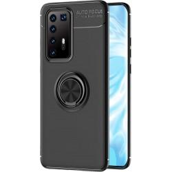 Etui na telefon RING HOLDER czarne do Huawei P40 Pro