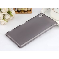 Sony Xperia M4 Aqua Pudrowe Etui Silikonowe + Folia na ekran- CZARNE