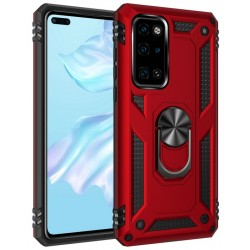 Etui na telefon Ring Holder 4w1 Czerwone do Huawei P40