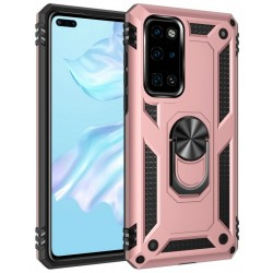 Etui na telefon Ring Holder 4w1 Złote do Huawei P40