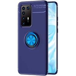 Etui na telefon RING HOLDER blue do Huawei P40