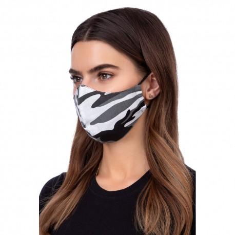 Maseczka maska ochronna na twarz profilowana , membrana wzór MORO