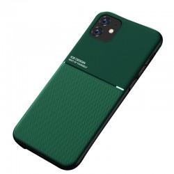 Etui na telefon Business Magnet case zielone do iPhone 11