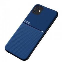 Etui na telefon Business Magnet case niebieskie do iPhone 11