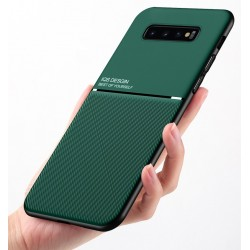 Etui na telefon Business Magnet case zielone do Samsung Galaxy S10