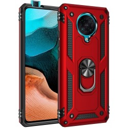 Etui na telefon Ring Holder 4w1 Czerwone do Pocophone F2 Pro