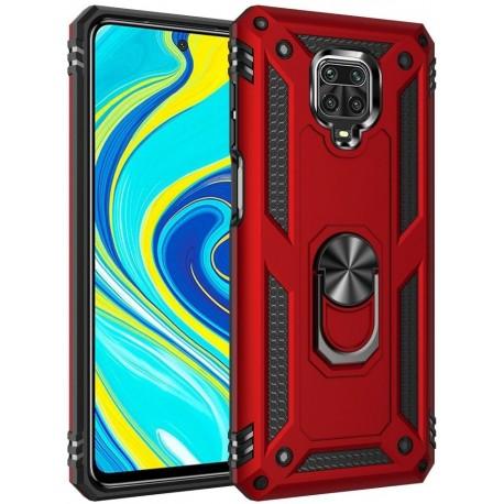 Etui na telefon Ring Holder 4w1 Czerwone do Xiaomi Redmi Note 9S