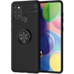 Etui na telefon RING HOLDER czarne do Samsung Galaxy A21s