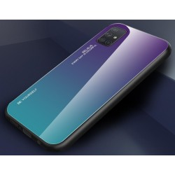 Etui na telefon GRADIENT szklane turkus do Samsung Galaxy A21s