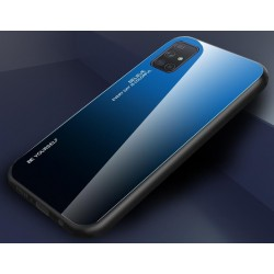 Etui na telefon GRADIENT szklane granatowe do Samsung Galaxy A21s
