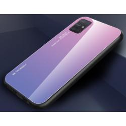 Etui na telefon GRADIENT szklane fioletowe do Samsung Galaxy A21s