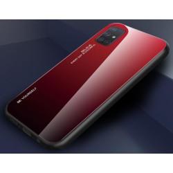 Etui na telefon GRADIENT szklane czerwone do Samsung Galaxy A21s