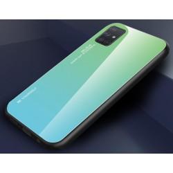 Etui na telefon GRADIENT szklane zielone do Samsung Galaxy A21s