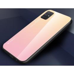 Etui na telefon GRADIENT szklane żółte do Samsung Galaxy A21s
