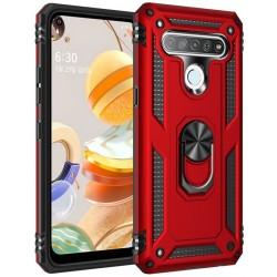 Etui na telefon ARMOR Ring Holder 4w1 Czerwone do LG K61