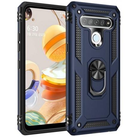 Etui na telefon ARMOR Ring Holder 4w1 Granatowe do LG K61