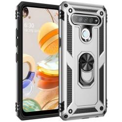 Etui na telefon ARMOR Ring Holder 4w1 Srebrne do LG K61