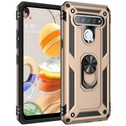 Etui na telefon ARMOR Ring Holder 4w1 Złote do LG K61