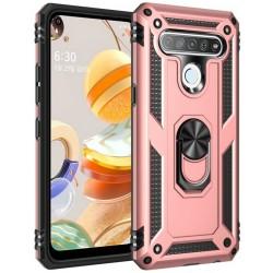 Etui na telefon ARMOR Ring Holder 4w1 Różowe do LG K61