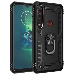 Etui na telefon Ring Holder 4w1 Czarne do Motorola Moto G8 Power Lite