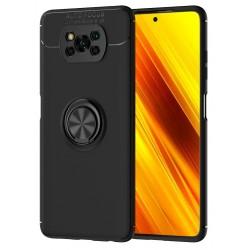 Etui na telefon RING HOLDER 4w1 czarne do POCO X3 NFC