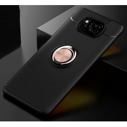 Etui na telefon RING HOLDER 4w1 złote do POCO X3 NFC