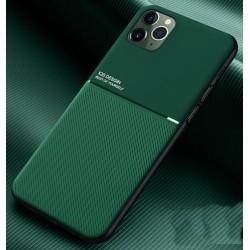 Etui na telefon Business Magnet case zielone do iPhone 12