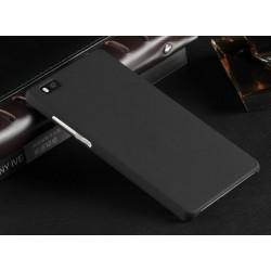 Huawei P8 Lite Etui SLIM RUBBER Case + Folia na ekran- CZARNE