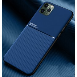 Etui na telefon Business Magnet case niebieskie do iPhone 12 Pro