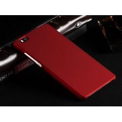 Huawei P8 Lite Etui SLIM RUBBER Case + Folia na ekran- BORDOWE
