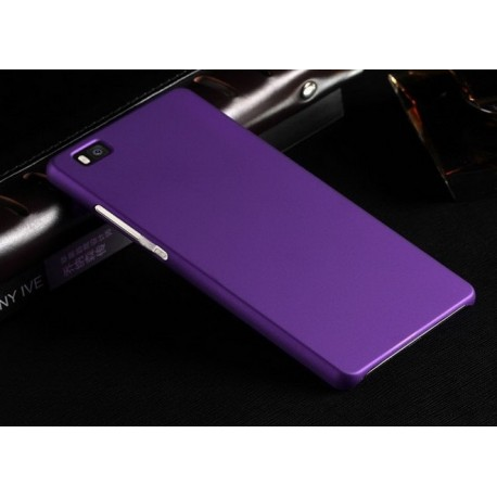 Huawei P8 Lite Etui SLIM RUBBER Case + Folia na ekran - FIOLETOWE