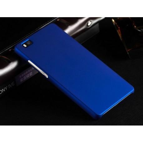 Huawei P8 Lite Etui SLIM RUBBER Case + Folia na ekran- GRANATOWE