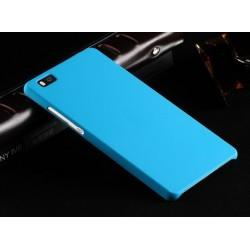 Huawei P8 Lite Etui SLIM RUBBER Case + Folia na ekran- NIEBIESKIE
