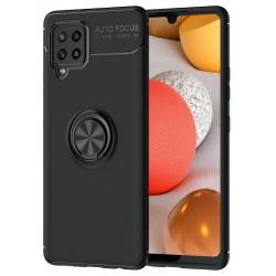 Etui na telefon RING HOLDER 4w1 czarne do Samsung Galaxy A42 5G