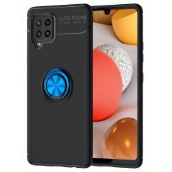Etui na telefon RING HOLDER 4w1 niebieskie do Samsung Galaxy A42 5G