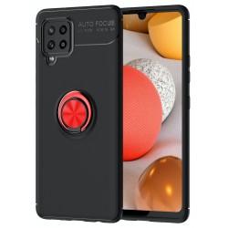 Etui na telefon RING HOLDER 4w1 czerwone do Samsung Galaxy A42 5G
