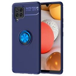 Etui na telefon RING HOLDER 4w1 blue do Samsung Galaxy A42 5G