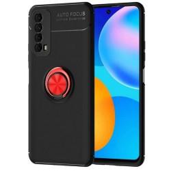 Etui na telefon RING HOLDER 4w1 czerwone do Huawei P Smart 2021