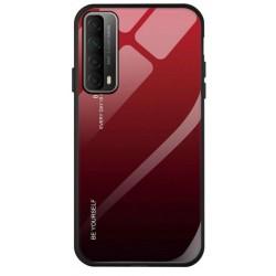 Etui na telefon GRADIENT czerwone do Huawei P Smart 2021