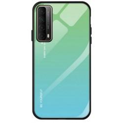 Etui na telefon GRADIENT zielone do Huawei P Smart 2021