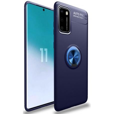 Etui na telefon RING HOLDER 4w1 blue do POCO M3