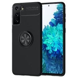 Etui na telefon RING HOLDER 4w1 czarne do Samsung Galaxy S21+ Plus
